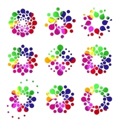 Isolated abstract colorful round shape dotted logo vector