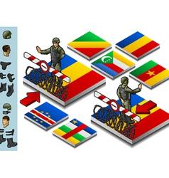 Isometric representation frontier militarily vector