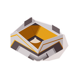 Isometric sport arena exterior place for biggest vector