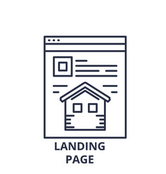 landing page line icon concept landing page vector image
