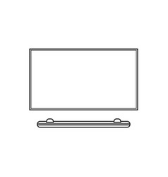 led tv flat icon of modern household appliances vector image
