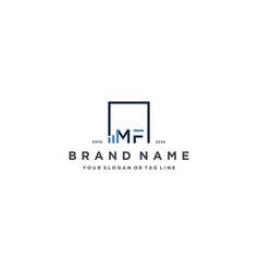 Letter mf square logo finance design vector