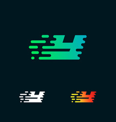 letter y modern speed shapes logo design vector image