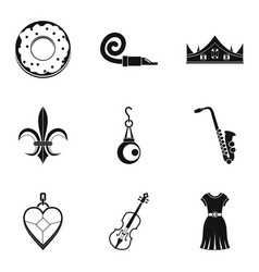 Libation icons set simple style vector