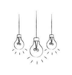Light bulbs hanging from the ceiling vector