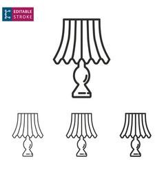 lighting line icon on white background editable vector image