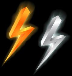 Lightning signs vector
