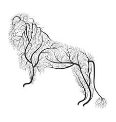 Lion bush stylization vector