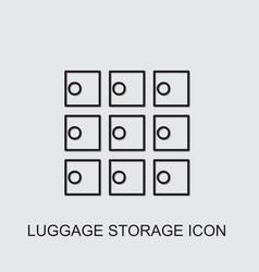 Luggage storage icon vector
