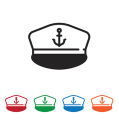 marine hat icon vector image