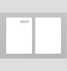 mockup paper a4 page card empty blank template vector image