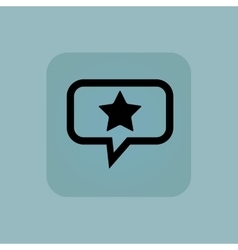 Pale blue favorite message icon vector image