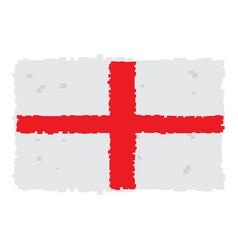 Pixelated flag of england vector