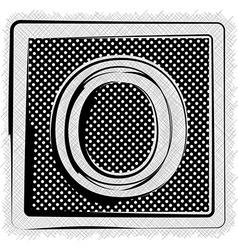 Polka Dot Font LETTER O vector image
