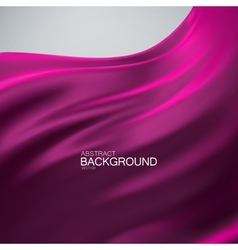 Purple silk fabric vector image