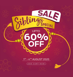 raksha bandhan sale vector image