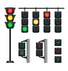 Realistic traffic lights vector