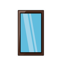 Rectangle mirror icon vector