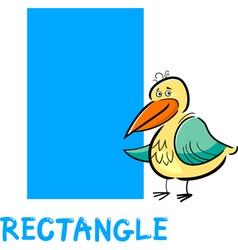 Rectangle shape with cartoon bird vector