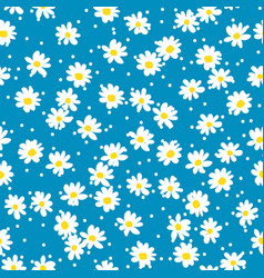 retro daisy seamless pattern vector image
