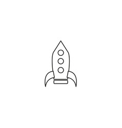 rocket icon rocket icon vector image