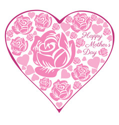 Rose heart mothers day vector