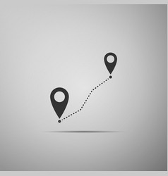 route location icon map pointer gps navigator vector image