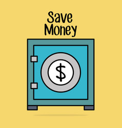 save money security box vector image