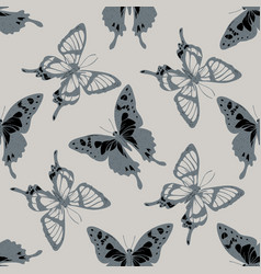 Seamless pattern with hand drawn stylized graphium vector