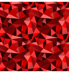 seamless red abstract geometric rumpled pattern vector image