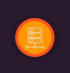 Server icon linear vector