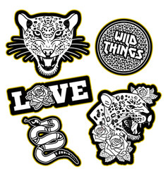 set patches vector image