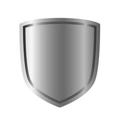 Shield silver gray icon shape emblem vector