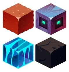 Textures for Platformers Icons Isometric vector