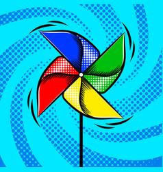 Toy vane pop art style vector