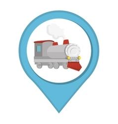 train vehicle isolated icon vector image
