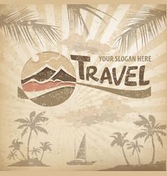 travel logo concept vector image