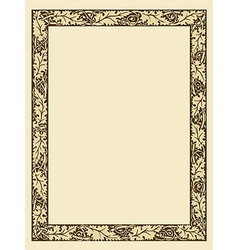Vintage photo frame with ornamental borders vector