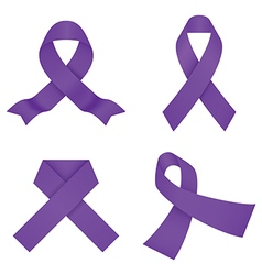 Violet awareness ribbons vector