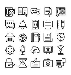Web design line icons 2 vector