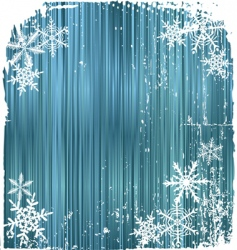 winter background snowflakes vector illustration vector image