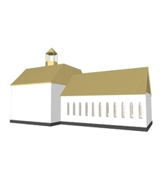 building 3d Church on white background vector image vector image