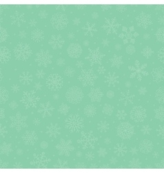 Green Subtle Winter Snow Flakes Doodle Seamless vector image