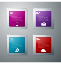Infographics glass squares vector