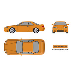 orange car on a white background vector image