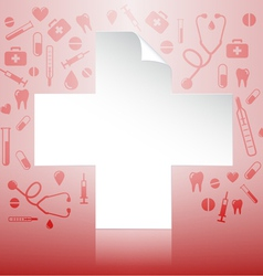 red cross vector image vector image