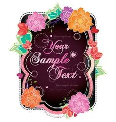 summer floral postcard vector image