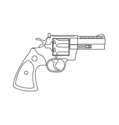 vintage revolver gun firearm pistol vector image