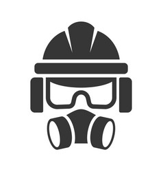 builder safety helmet protection glasses vector image vector image