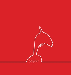Dolphin red vector